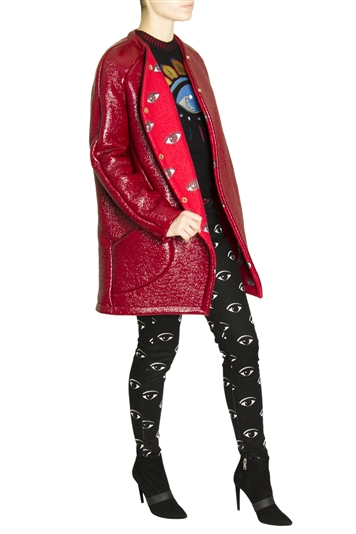 MUST HAVE: KENZO RED COAT!
