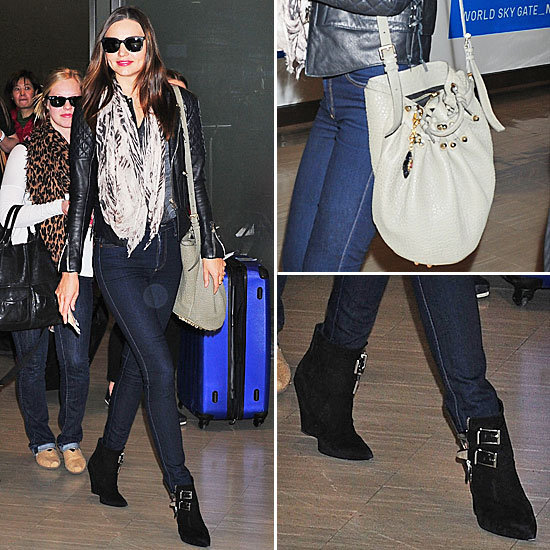 Miranda Kerr wearing Diego Bag Alexander Wang SS 2014