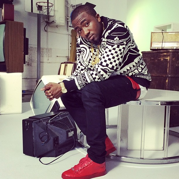 Stylstalker-Ice-Prince-in-KTZ-Cotton-Tattoo-Terry-and-Fleece-Sweatshirt-and-Red-Balenciaga-Sneakers-4